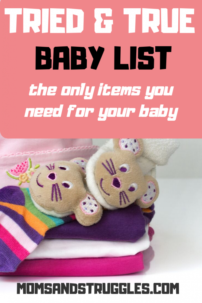 baby items list