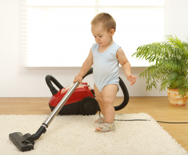 how to keep house clean with baby